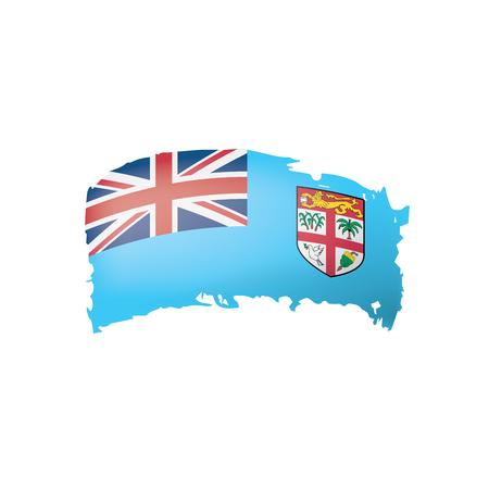 Fiji flag, vector illustration on a white background