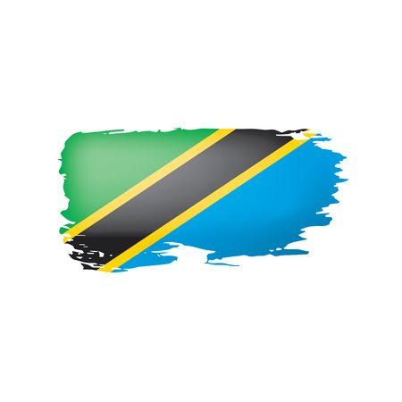 Tanzania flag, vector illustration on a white background
