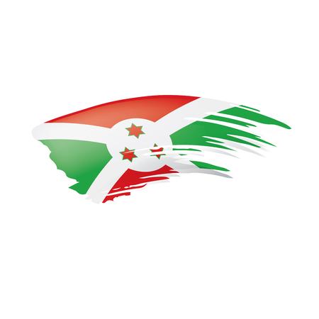 Burundi flag, vector illustration on a white background