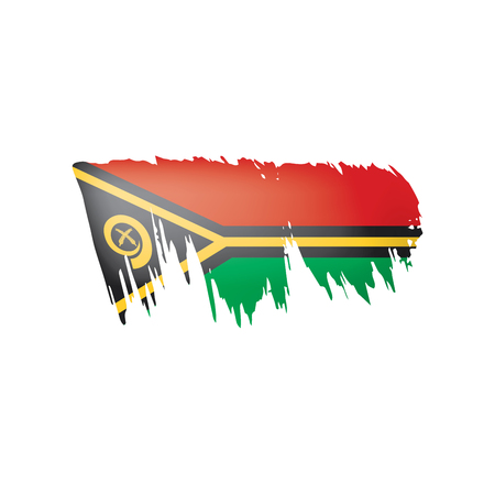 Vanuatu flag, vector illustration on a white background