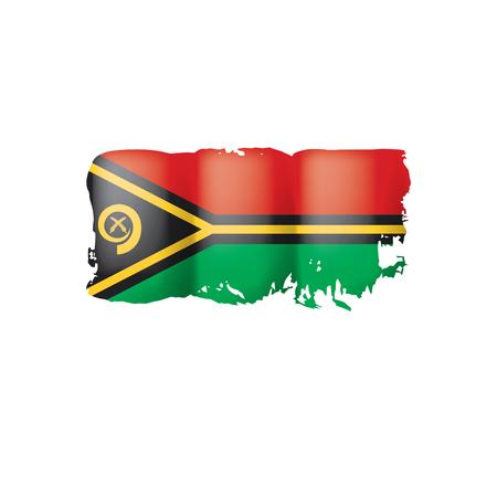 Vanuatu flag, vector illustration on a white background. Ilustração