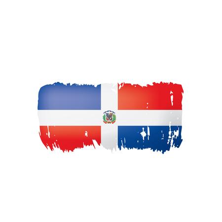 Dominicana flag, vector illustration on a white background. Ilustração