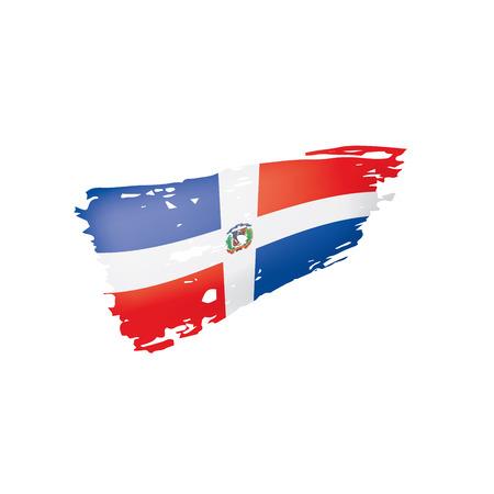 Dominicana flag, vector illustration on a white background Vektoros illusztráció