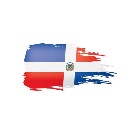 Dominicana-Flagge, Vektorillustration auf einem weißen Hintergrund Vektorgrafik