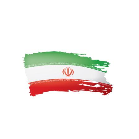 Iran flag, vector illustration on a white background