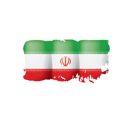 Iran flag, vector illustration on a white background.  イラスト・ベクター素材