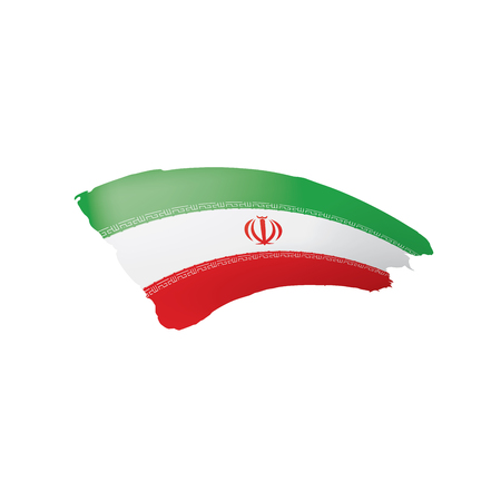 Iran flag, vector illustration on a white background. 向量圖像