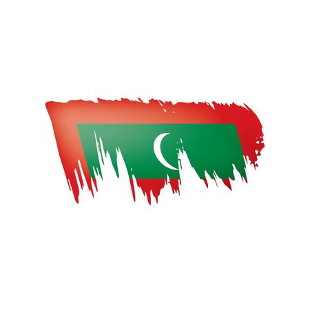 Maldives flag, vector illustration on a white background