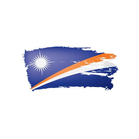 Marshall Islands flag, vector illustration on a white background  イラスト・ベクター素材