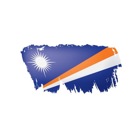 Marshall Islands flag, vector illustration on a white background Ilustração