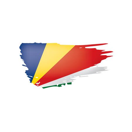 Seychelles flag, vector illustration on a white background 向量圖像