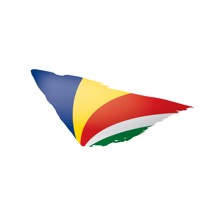 Seychelles flag, vector illustration on a white background  イラスト・ベクター素材