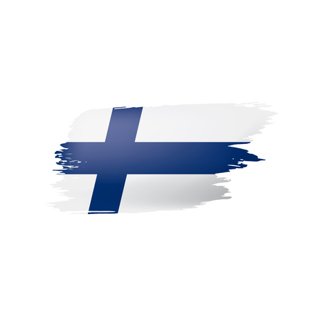 Finland flag, vector illustration on a white background Illustration