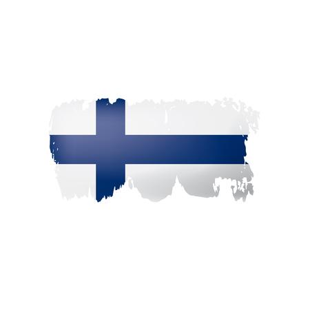 Finnland-Flagge, Vektorillustration auf einem weißen Hintergrund
