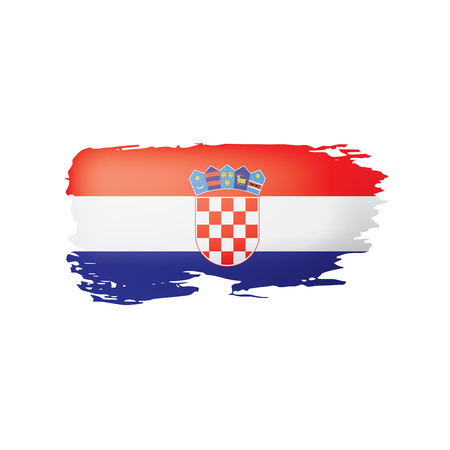 Croatia flag, vector illustration on a white background.
