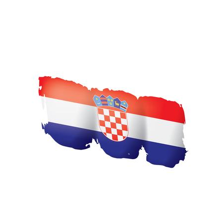 Kroatien-Flagge, Vektorillustration auf einem weißen Hintergrund.