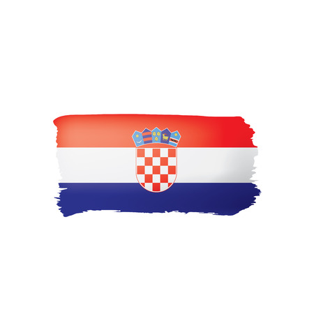Croatia flag, vector illustration on a white background.