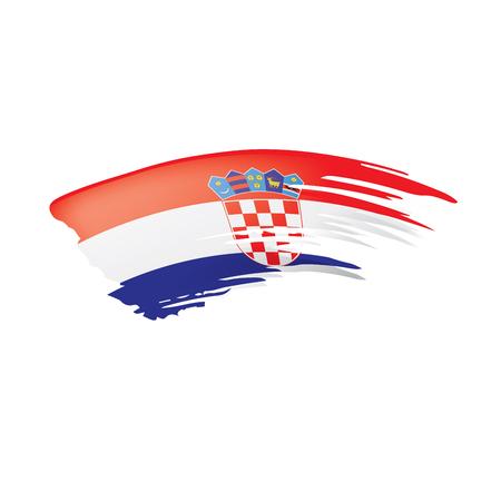 Croatia flag, vector illustration on a white background Stock Vector - 109808925