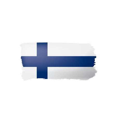 Finland flag, vector illustration on a white background Иллюстрация
