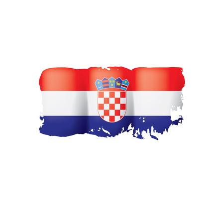 Croatia flag, vector illustration on a white background Stock Photo