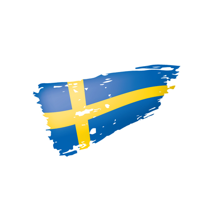 Sweden flag, vector illustration on a white background Vektorgrafik