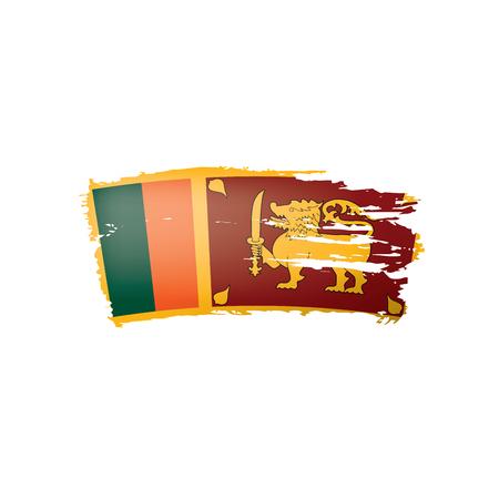 Sri Lanka flag, vector illustration on a white background. Illusztráció