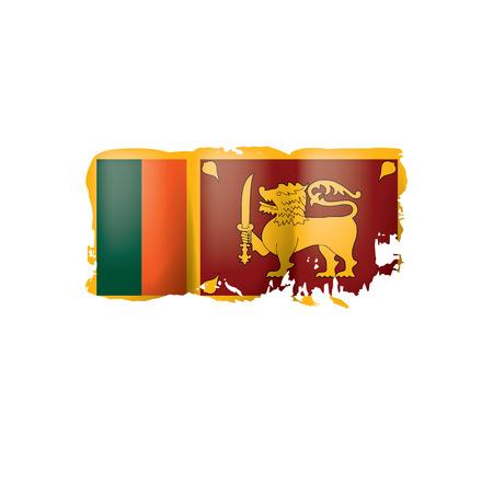 Sri Lanka flag, vector illustration on a white background.  イラスト・ベクター素材