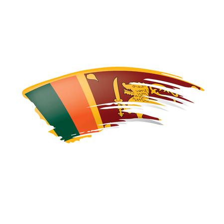 Sri Lanka flag, vector illustration on a white background Illusztráció