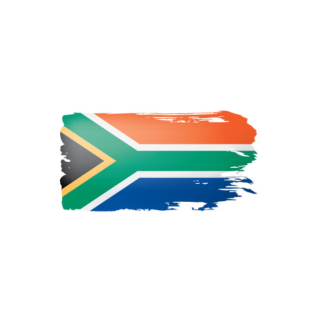 south africa flag, vector illustration on a white background Imagens - 109808998