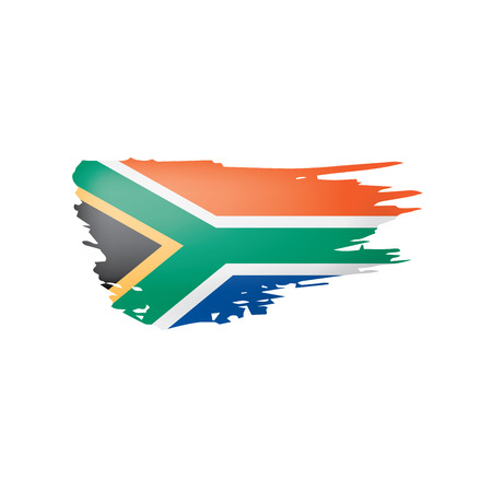 south africa flag, vector illustration on a white background
