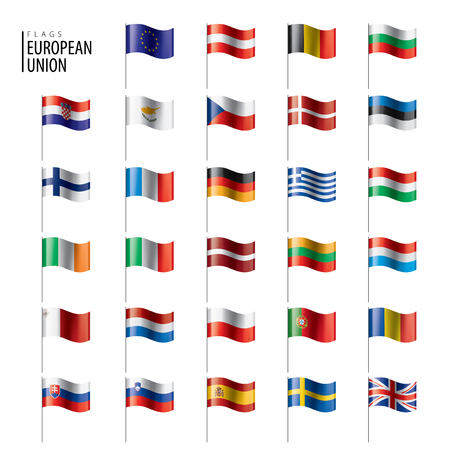 flags of the european union. Vector illustration Stock fotó - 109746511