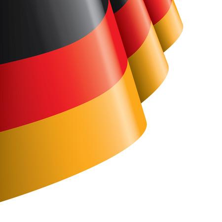 Deutschlandflagge, Vektorillustration auf weißem Hintergrund.