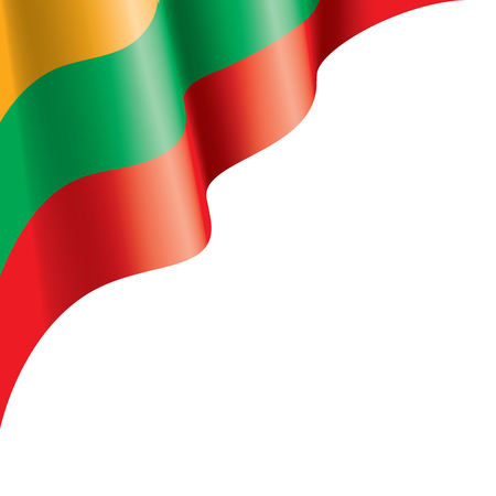 Lithuania flag, vector illustration on a white background Çizim