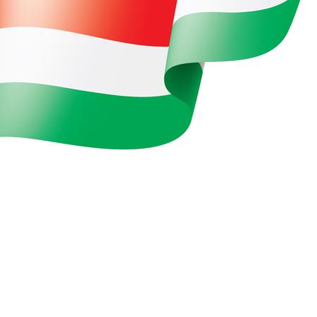 Hungary flag, vector illustration on a white background