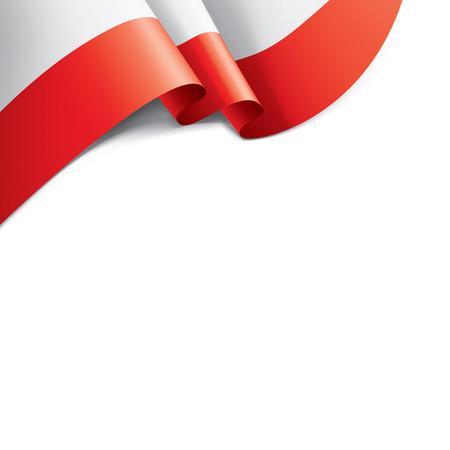 Poland flag, vector illustration on a white background.