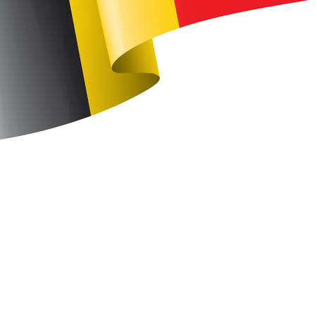 Belgium flag, vector illustration on a white background. Ilustração