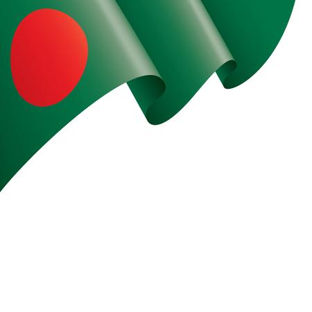 Bangladesh flag, vector illustration on a white background