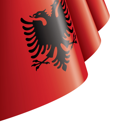 Albania flag, vector illustration on a white background