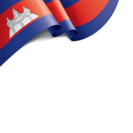Drapeau du Cambodge, illustration vectorielle sur fond blanc