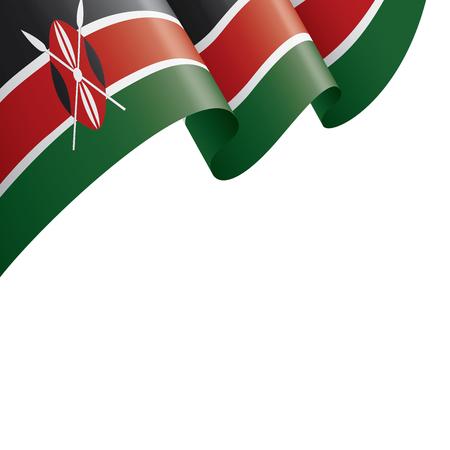 Kenya bandiera nazionale, illustrazione vettoriale su uno sfondo bianco