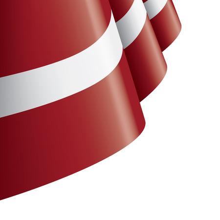 Bandera nacional de Letonia, ilustración vectorial sobre un fondo blanco.