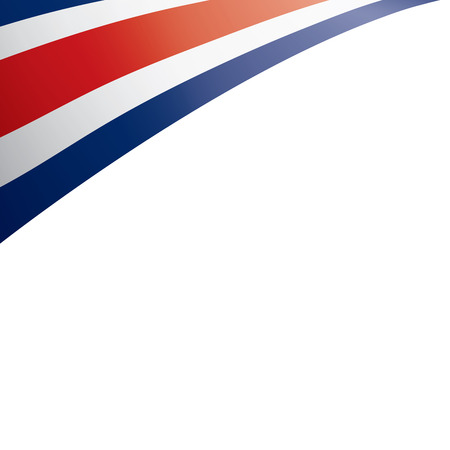 Costa Rica flag, vector illustration on a white background Stock Photo