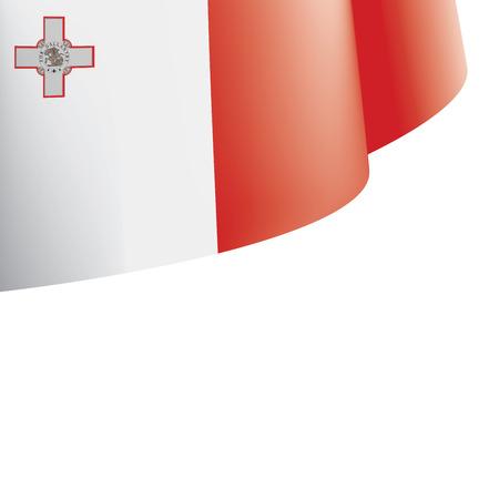 Malta flag, vector illustration on a white background