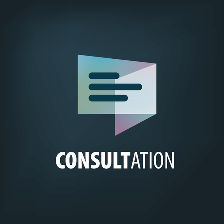 Sign for online consultation. Vector illustration of the icon.