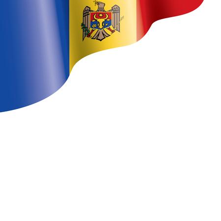 Moldova national flag, vector illustration on a white background Ilustración de vector