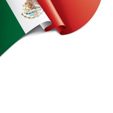 Drapeau national mexicain, illustration vectorielle sur fond blanc Vecteurs