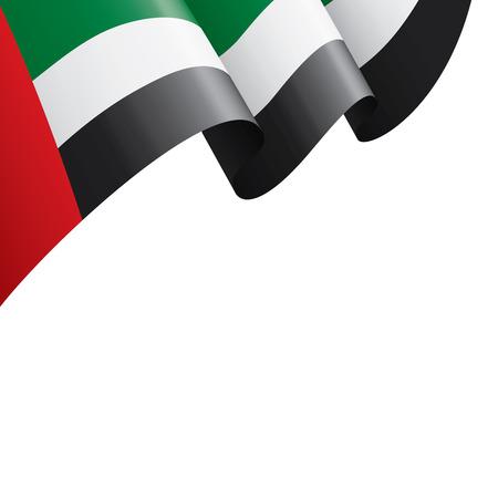 Bandera nacional de los Emiratos Árabes Unidos, ilustración vectorial sobre un fondo blanco.