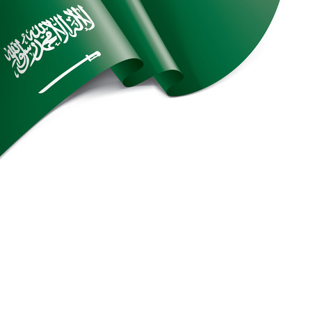 Saudi Arabia flag, vector illustration on a white background