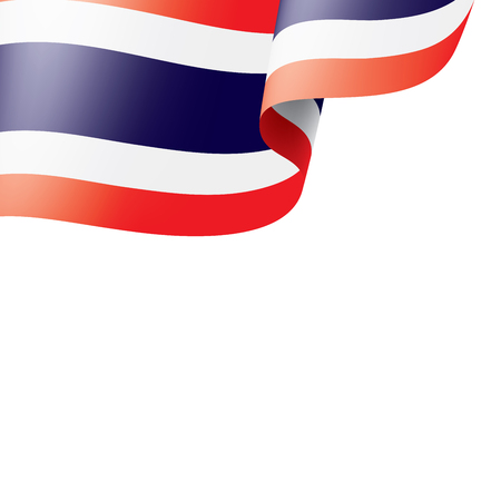 Thailand national flag, vector illustration on a white background Ilustração