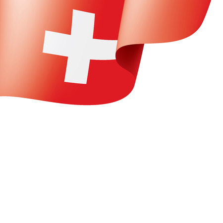 Switzerland national flag, vector illustration on a white background